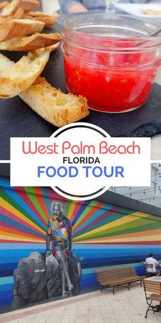 The Downtown West Palm Beach Food Tour is a fun way to taste the local culinary scene & explore the artsy town. The tour features 6 yummy food stops. #westpalmbeach #palmbeach #foodtour #lovefl