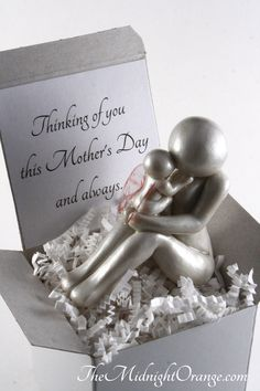 Mother and Baby Angel Child Loss Sympathy Gift - pregnancy and infant loss keepsake of remembrance - handmade clay sculpture - made to order