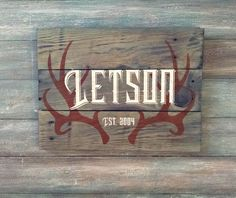 Hey, I found this really awesome Etsy listing at https://www.etsy.com/listing/247748594/rustic-family-name-signs-antler-family