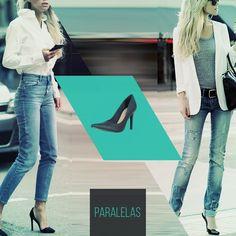 Como aderir a moda do jeans destruído? Usando complementos clássicos e impecáveis como um belo scarpin e impecáveis camisas e blazers.