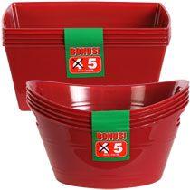 Bulk Plastic Mini Storage Tubs with Handles, 5-ct. Packs at DollarTree.com