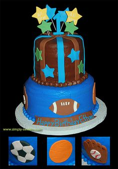 1st birthday All Star Sports theme by Simply Sweets, via Flickr