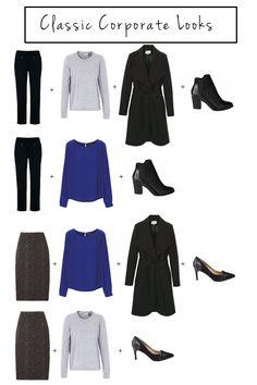 classic corporate looks (Autumn/Winter capsule wardrobe)