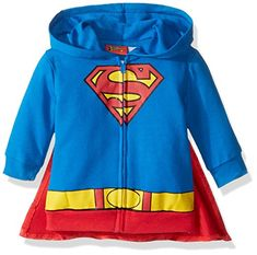 Warner Brothers Baby Boys' Superman Hoodie With Cape, Blue, 3-6 Months