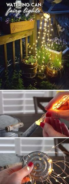 Watering Can Fairy Lights | DIY Garden Lighting Ideas | DIY Backyard Lighting Ideas on a Budget
