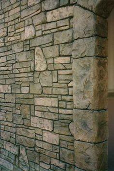 Flex-C-Ment, faux rock, artificial rock, technical data, concrete mix Concrete Fireplace, Concrete Wall, Concrete Floors, Stone Stairs, Stone Walkway, Fake Stone, Brick And Stone, Stamped Concrete, Concrete Design