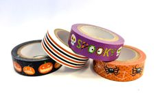 4 Rolls Spooky Halloween Washi Tape Rolls by PlayingWithColor2