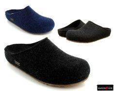 924f7159ace HAFLINGER Grizzly Michl 711033 Slippers Clogs Graphite Jeans Unisex EUR  sz.36-42