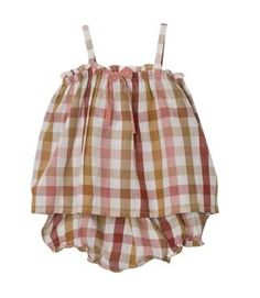 Cute little romper. Would love to copy it in a calico.