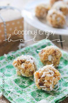 Coconut Crispy Balls - delicious no bake treat.
