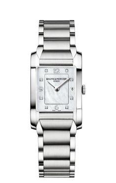 Hampton 10050 montre femme rectangulaire - Baume et Mercier