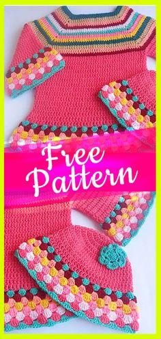 Crochet Girl Sweater free