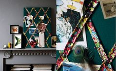 Perfect solution for my sewing table....Make your own Liberty Print Keepsake Board...tutorial by Liberty
