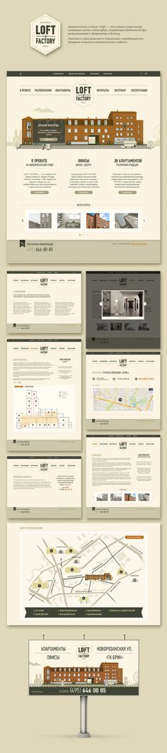 LOFT - maxmalyshev.  Like the stacking in two columns to display the pages neatly