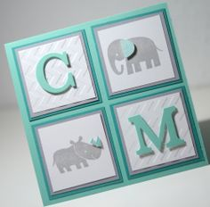 Stampin' UP! - Baby - Card - Zoo Babies