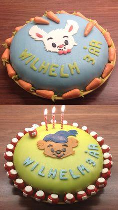Bamse-tårta och Lille Skutt-tårta.