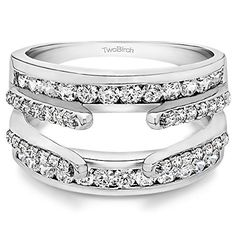 1.04 Ct Twt Combination Cathedral and Classic Ring Guard set with Diamonds G-H,I1-I2 (1 CT) TwoBirch http://www.amazon.com/dp/B00F9APE7K/ref=cm_sw_r_pi_dp_3FRXvb05GSK8Y