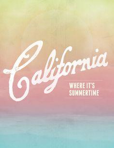 california Art Print by houseofgrays California Living, California Dreamin', Venice Beach, Cali Girl, Nyc, San Diego, Surfing, Art Prints, Golden State