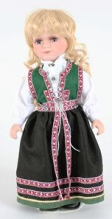 Sunnfjord from Norwegian Dolls 8 inches Folk Costume, Costumes, Miss World, Beautiful Scenery, Sweater Shop, Historical Clothing, Scandinavian Style, Norway, American Girl