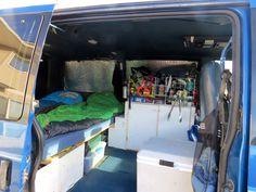 inside astrovan camper conversion