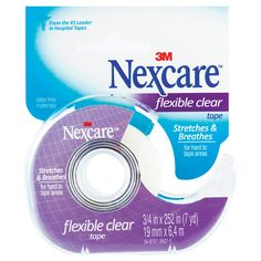 Nexcare Flexible Clear Tape Dispenser (Transpore) 19mm x 6.4m - Chemist Warehouse
