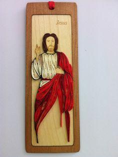 Handmade Bookmark Quilling Paper Filigree Jesus Christ   eBay