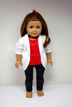 American Girl Doll Clothes- Slouch Cardigan, Jeggings & T Shirt
