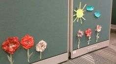 Our garden of flowers on our work cubicles pic 2