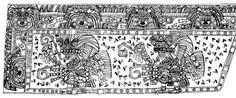 Figuras humanas danzando. Atetelco. Teotihuacan, México / arte, pintura, mural