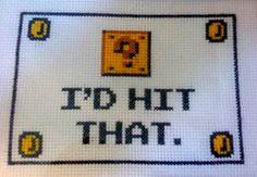 video game cross stitch
