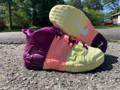 Size 6 Y or Size Women's Nike More Uptempo GS 'Lucky Charms' for Sale in North Chesterfield, VA - OfferUp Cute Nike Shoes, Cute Nikes, Sailing Boots, Nike Air Uptempo, Hype Shoes, Everyday Shoes, Classic Sneakers, Nike Outfits, Dream Shoes