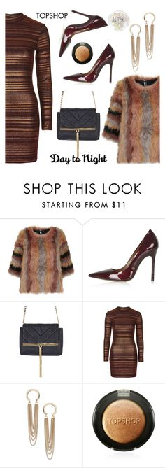 """""""Day to Night: Holiday Party"""" by paculi ❤ liked on Polyvore featuring Topshop and holydayparty"""