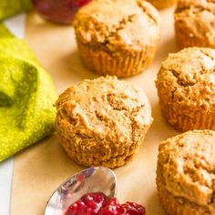 Healthy PBJ Muffins