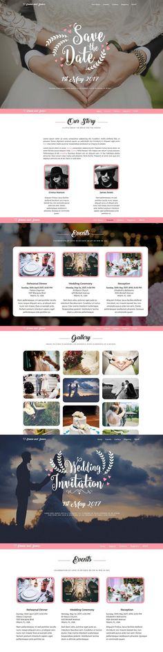Wedding Theme - Perfect Day. Bootstrap Themes