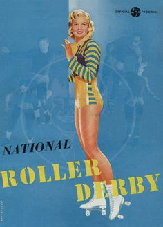 National Roller Derby official program circa by cheeseboyproducts, $25.00