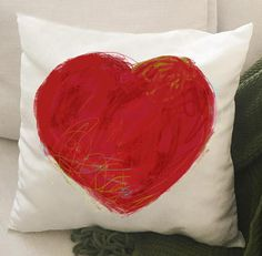 Housse de coussin cœur veloutine OU canevas 18 x 18 Etsy, Throw Pillows, Heart Cushion, Canvas, Impressionism, Canvas, Flowers, Drawing Drawing, Cushions