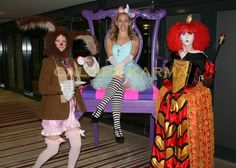 Alice in Wonderland performers to hire including the Red Queen, Mad March Hare and Alice. March Hare, Alice In Wonderland Party, Walkabout, Red Queen, Through The Looking Glass, Look Alike, Queen Of Hearts, Corporate Events, Harajuku