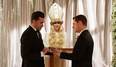 TV Guide looks back on some of the most romantic moments between David (Dan Levy) and Patrick (Noah Reid) on Schitt's Creek. Romantic Moments, Most Romantic, Sunday Prayer, Catherine O'hara, David Rose, Slow Dance, Rose Family, Comedy Series, Comedy Tv