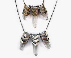 chevron tri aura necklace in bronze by TOMTOM JEWELRY
