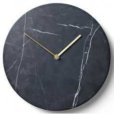Menu Marble Wall Clock - Black