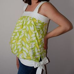 Sewing tutorial for Maternity Top