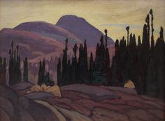 Lawren Harris, 'From North Shore, Lake Superior' at Mayberry Fine Art 10.5 x 13.5 (1924)