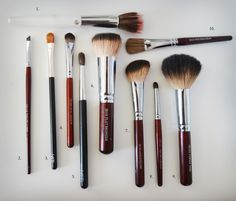Essential Brush Collection...and what to use them for!