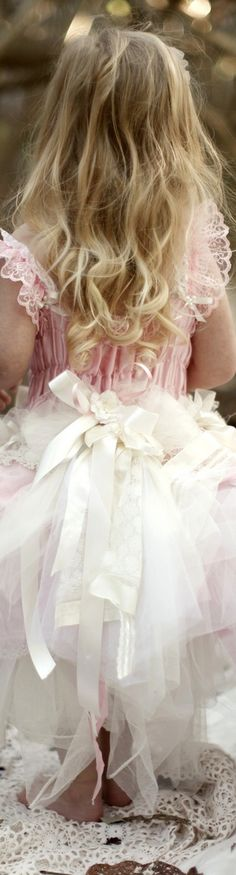 ❀ Fanciful Flower Girls ❀ dresses & hair accessories for the littlest wedding attendant :-)  pink and white <3