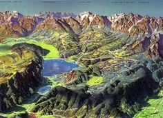 Alpago, map