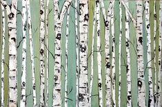 birch tree art - Google Search