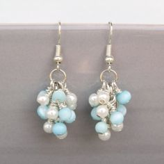 Get the cluster look with this tutorial to make your own grapevine earrings!