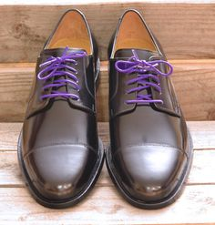 Colored Dress Shoelaces 2-pairs - Royal Purple