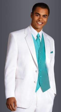 White Troy by After Six, Fit: Modern, Fabric:  Polyester, Lapel: Notch, Buttons: 2, Sizes available: Boys' 3 - Men's 72L