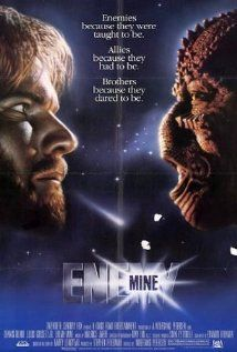 A soldier from Earth crash-lands on an alien world after sustaining battle damage. Eventually he encounters another survivor, but from the enemy species he was fighting; they band together to survive on this hostile world. In the end the human finds himself caring for his enemy in a completely unexpected way.